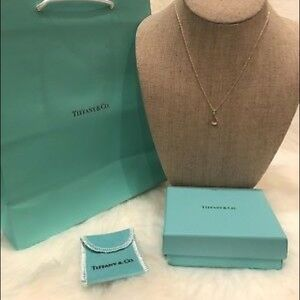 Tiffany & Co Elsa Peretti Open Tear Drop Necklace
